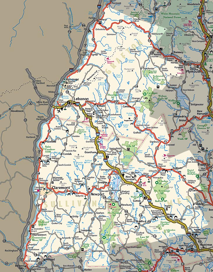 NHgov Resources For New Hampshire Visitors Maps - Nh road map