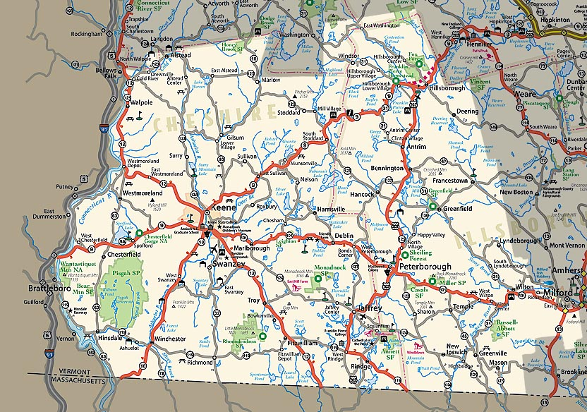 NHgov Resources For New Hampshire Visitors Maps - Map of new hampshire towns