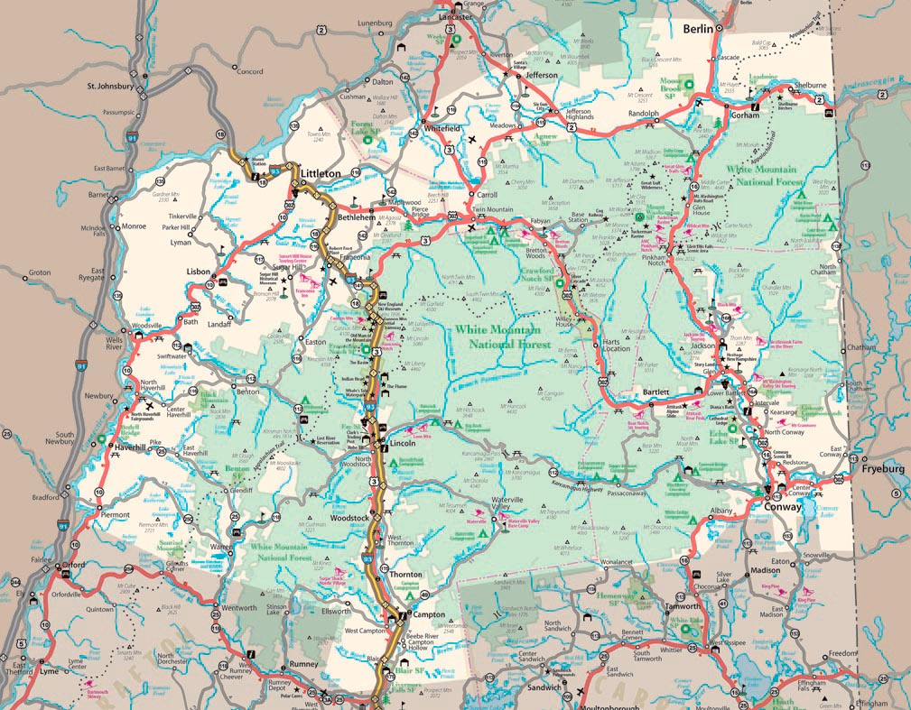 NHgov Resources For New Hampshire Visitors Maps - New hampshire in us map