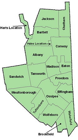 Carroll County Mapping Division Of Emergency Services - New hampshire county map