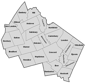 Merrimack County Mapping Division Of Emergency Services - Nh county map