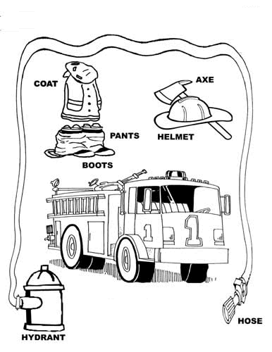 Stop Drop And Roll Coloring Page Fire safety
